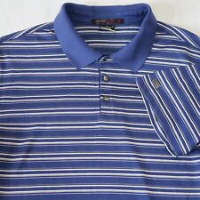 Nike Dri-Fit Tiger Woods Blue Striped Short Sleeve Golf Polo Shirt M-L See Sizes