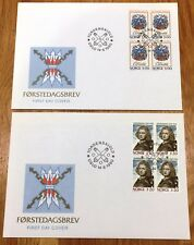 Norway Post FDC 1990.06.14. Peter Wessel Tordenskiold - Block of Four