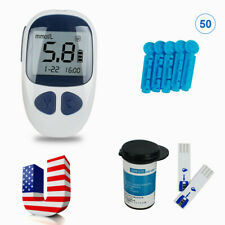 Glucometer Blood Glucose Monitor Diabetes Test Meter and 50 test strips&Lancet U