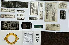 Suzuki RE5M RE5 1975 Modelo Kit Completo de advertencia calcomanía