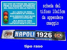 sciarpa tipo raso napoli 1926 forza stemma borbonico bufanda football scarf