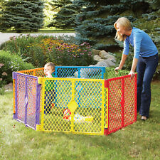 Toddleroo by North States Superyard Colorplay Multi-Color Playard 6 Panel