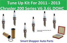 Tune Up Kit for 2011 2012 2013 Chrysler 200 Series V6 Spark Plug, Oil Air Filter