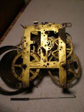 Antique-Sessions-Black Mantle Clock Movement-Ca.1900-Parts/Restore-#M767