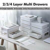 2 Layers Desktop Storage Box Organizer Drawer Jewelry Cosmetics Makeup Case