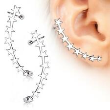 Star Crescent Cartilage Ring Cuff 20G 1 Pair Surgical Steel Earring Ear Vine
