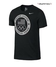 Nike Limited Edition (LRG) 2016 Rio Team USA Olympic Logo Dri-Fit Shirt Charcoal