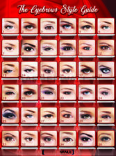 Eyebrows Threading Poster by [BARBERWALL] Beauty Salon Poster, 19 x 27 Laminated