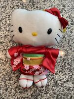 "HELLO KITTY 12""JAPANESE GEISHA GIRL PLUSH DOLL KIMONO STUFFED ANIMAL"