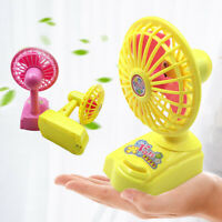 US_ Portable Mini Handheld Battery Power Desk Cooling Fan with Standing Base Wel