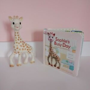 sophie the giraffe - sophie la girafe - TEETHER TOY & SENSORY BOOK FAST P&P
