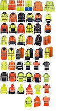 Men's Hi Vis Visibility Work Jackets Polo Shirts Hoodies Zipper Jumpers T shirts