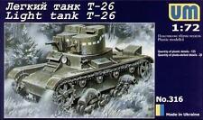 1/72 T-26 Soviet light tank UMT 316 Models kits
