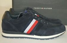 7cede88f5 Tommy Hilfiger Luxury Suede Runner Trainers Midnight Size UK 8 EU 42 RRP  £115