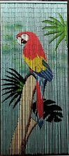 Parrot Hand Painted Bamboo Beaded Curtain - New - Free Shipping 48 State