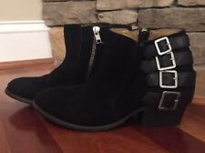 Madewell h by hudson encke suede boots in black Sz 37 $295