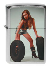 ZIPPO Lighter ● Girl with Wheels PIN UP SEXY ● 2003903 ● NEUF new neuf dans sa boîte ● b68