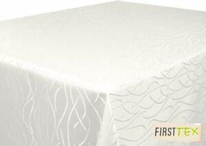 Tischdecke Champagner 130x160 Eckig in glanzvoller Streifenoptik von First-Tex