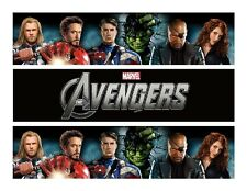 Avengers Edible Birthday Cake Image Topper Frosting Icing 1/4 Sheet