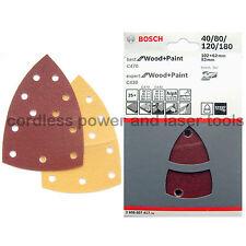 25 hojas de lija de Bosch PSM 80 100 160 200 18V primo Prio Madera + Pintura 2608607417