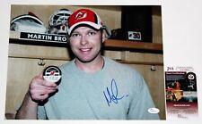 MARTIN BRODEUR SIGNED 11x14 PHOTO NEW JERSEY DEVILS NHL HOF AUTOGRAPHED +JSA COA