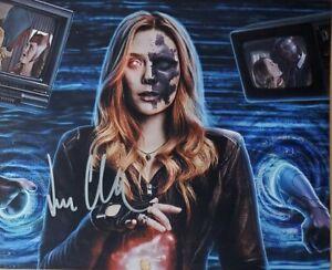 Elizabeth Olsen Hand Signed 8x10 Photo w/Holo COA WandaVision