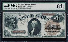 Fr. 29 1880 $1 Legal Tender PMG 64EPQ