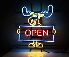 """New Open Deer Beer Neon Light Sign 19""""x15"""""""