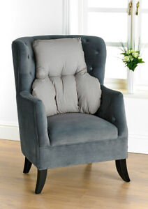 GREY BACK SUPPORT CUSHION FOR CHAIR   Back Support Pillow   T Shaped Cushion