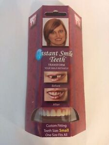 Instant Smile Deluxe Teeth SMALL Top Fake Cosmetic Impression Material