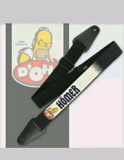 "The Simpsons HOMER DOH! ADJUSTABLE GUITAR STRAP 2"" WIDE free USA SHIPPING nwt"