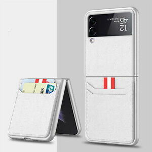 Phone Case Card Holster PC Leather Protect Cover For Samsung Galaxy Z Flip3 5G