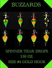 4* BUZZARD ICE JIGS* 1/16 OZ * #4 HOOK* HAND MADE AND PAINTED * USA MADE QUALITY