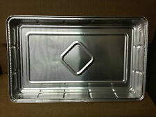 20 x Rectangular Foil Dish Baking Tray Container Tray Bake Rolled Edge 12 x 8""