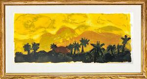 Christian Kruck (1925-1985), Original Hand Print, (Oasis in Gran Canaria), 1967