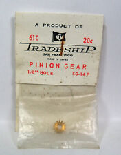 "Vintage Slot Car Part - #610 Tradeship Brass Pinion Gear, 14 Tooth  1/8"" Hole"