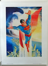 SUPERMAN 1989 50th ANNIVERSARY VINTAGE WARNER ART SIGNED JOSE GARCIA LOPEZ COA