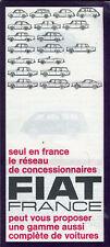Fiat 500 600 850 1500 Cabriolet 2300 Coupé French market sales brochure