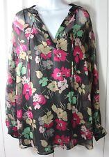 Lauren Ralph Lauren 2XL Floral Sheer Tunic Shirt w Built in Removable Tank $125