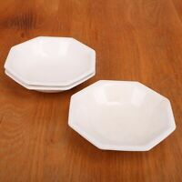 3 Berry Bowls Johnson Brothers White Ironstone Octagon Bad Shape Chips Crazing