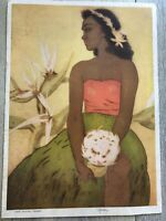 "Vintage John Kelly ""Hula Dancer, Hawaii"" Royal Hawaiian Dinner Menu, 05/17/1949"