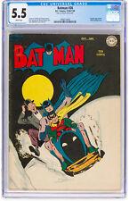 Batman #26 CGC 5.5 DC 1944 Justice League! Superman! White Pages! H12 192 1 cm
