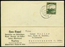 Germany 1935 card Railroad Centenary single franking