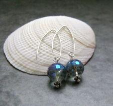 Hook Coating Round Sterling Silver Fine Earrings