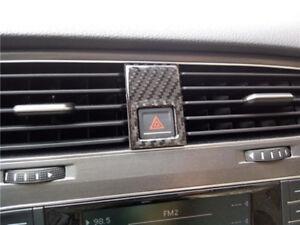 Carbon Fiber Double Jump Lamp Decoration Sticker for VW Golf 7 MK7 GTI 2013~2015