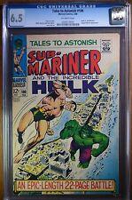 TALES TO ASTONISH #100 CGC 6.5 OW Marvel Battle Cover Hulk vs. Sub-Mariner Pupet