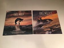 Free Willy & Free Willy 2 Laserdisc Lot NOT DVD Family Wilderness Adventure II