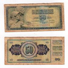 50 Dinara 1981 Jugoslawien - seltener antiker Geldschein - 0467