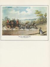 "1974 Vintage COACHING ""THE NEW LONDON ROYAL MAIL"" CARRIERS Art Print Lithograph"