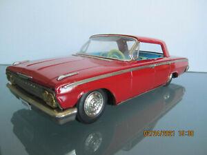 """1962 CHEVY IMPALA TIN TOY FRICTION CAR BY ASAHI TOYS (ATC) OF JAPAN 11.5"""""""